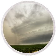 Early Morning Nebraska Storm Chasing 012 Round Beach Towel