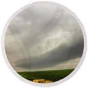 Early Morning Nebraska Storm Chasing 014 Round Beach Towel