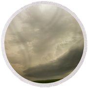 Early Morning Nebraska Storm Chasing 015 Round Beach Towel