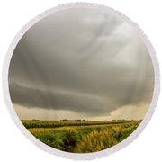 Early Morning Nebraska Storm Chasing 016 Round Beach Towel