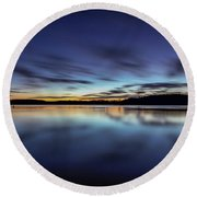 Early Morning On Lake Lanier Round Beach Towel
