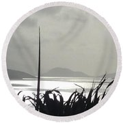 Early Morning Over Sugar Beach Round Beach Towel