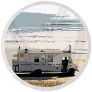 Early Morning Surf Round Beach Towel