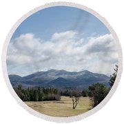 Early Spring In Lake Placid Round Beach Towel