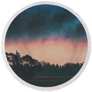 Early Spring Round Beach Towel
