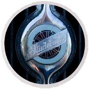 Early Studebaker Grill Emblem Round Beach Towel