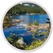 Early Summer At Finch Lake Round Beach Towel