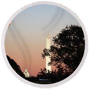 Early Washington Mornings - Cpl Block - For Liberty Round Beach Towel