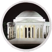 Early Washington Mornings - The Jefferson Memorial Round Beach Towel