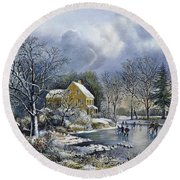 Early Winter, 1869 Round Beach Towel
