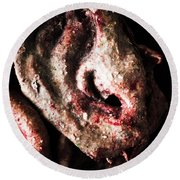 Ears And Meat Hooks  Round Beach Towel