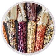 Ears Of Indian Corn Round Beach Towel