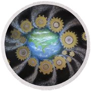 Earth #1 - You Are Here Round Beach Towel