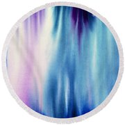 Earth And Sky Round Beach Towel