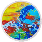 Earth, As Is 2 Round Beach Towel