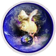 Earth Chick Round Beach Towel