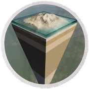 Earth Core Structure Cut-away Round Beach Towel