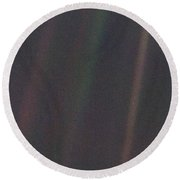 Earth From Voyager 1 Round Beach Towel