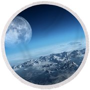 Earth Icy Ocean Aerial View Round Beach Towel