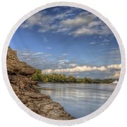 Earth, Sky And Water Round Beach Towel