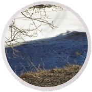 Earth Water And Ice Round Beach Towel