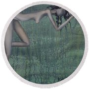 Earth Woman Round Beach Towel