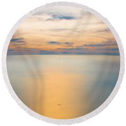 Earth's Curvature - Is Any Other Curve Any Better? Round Beach Towel