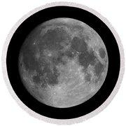 Earth's Moon Phase Full Moon Round Beach Towel