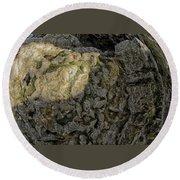 Earth's Pedestal Round Beach Towel