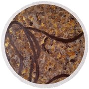 Earthy Silhouette Round Beach Towel