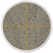 Earthtexturegold Round Beach Towel