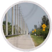 East Bound And Down Round Beach Towel