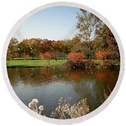 East Coast Autumn Round Beach Towel
