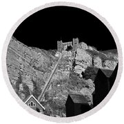 East Hill Cliff Railway - Hastings Round Beach Towel