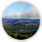 East Of Blue Round Beach Towel