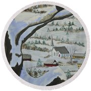 East Orange Vermont Round Beach Towel