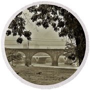 East River Drive - Philadelphia Round Beach Towel by Bill Cannon