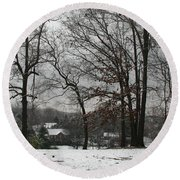 East Tennessee Winter Round Beach Towel