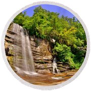 Eastatoe Falls/twin Falls 2 Round Beach Towel