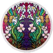 Easter Banner Round Beach Towel