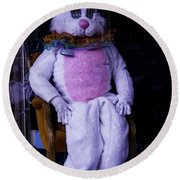 Easter Bunny Costume  Round Beach Towel