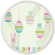 Easter Bunny-jp2774 Round Beach Towel