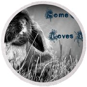 Easter Card Round Beach Towel