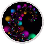 Easter Dna Galaxy 111 Round Beach Towel