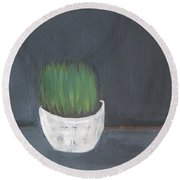 Easter Grass In A Pot Round Beach Towel