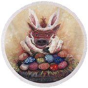 Easter Hog Round Beach Towel