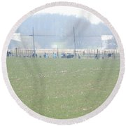 Easter Monday Amish Youth Gathering Round Beach Towel