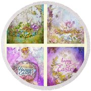 Easter Mood Collection Round Beach Towel