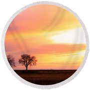 Easter Morning Sunrise Round Beach Towel