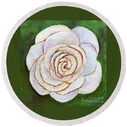 Easter Rose Round Beach Towel